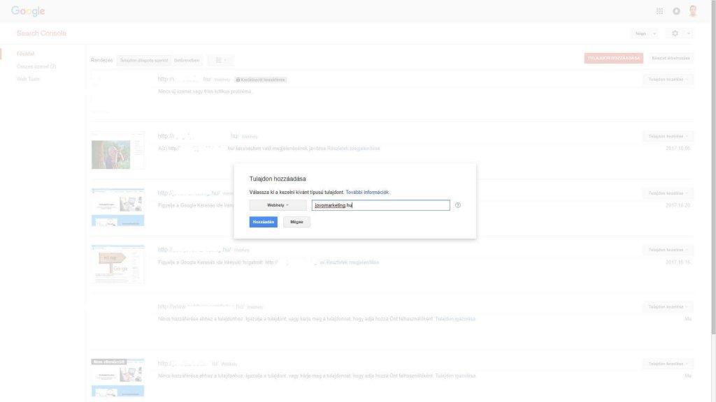 JövőMarketing Search Console 3