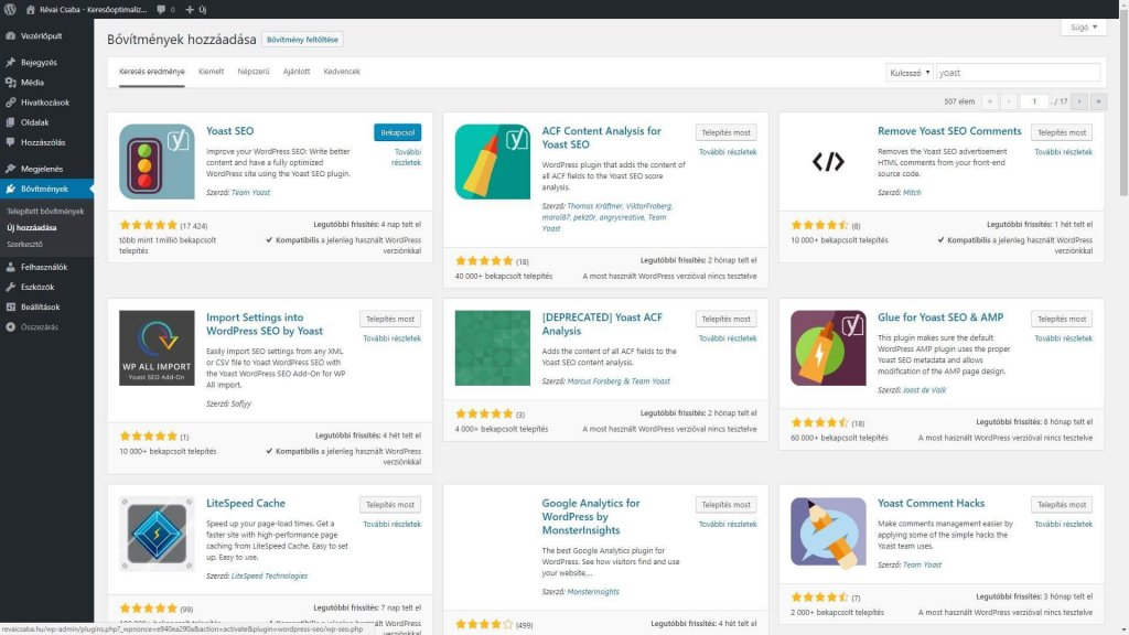 Jövőmarketing WordPress 3