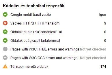 Kódolás és technikai tényezők (ementesovezet.hu SEO audit)