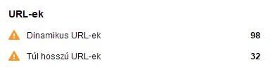 URL-ek (ementesovezet.hu SEO audit)